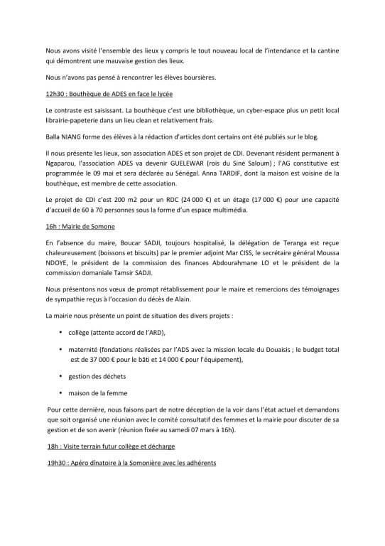 3RAPPORT DE MISSION SOMONE 2015