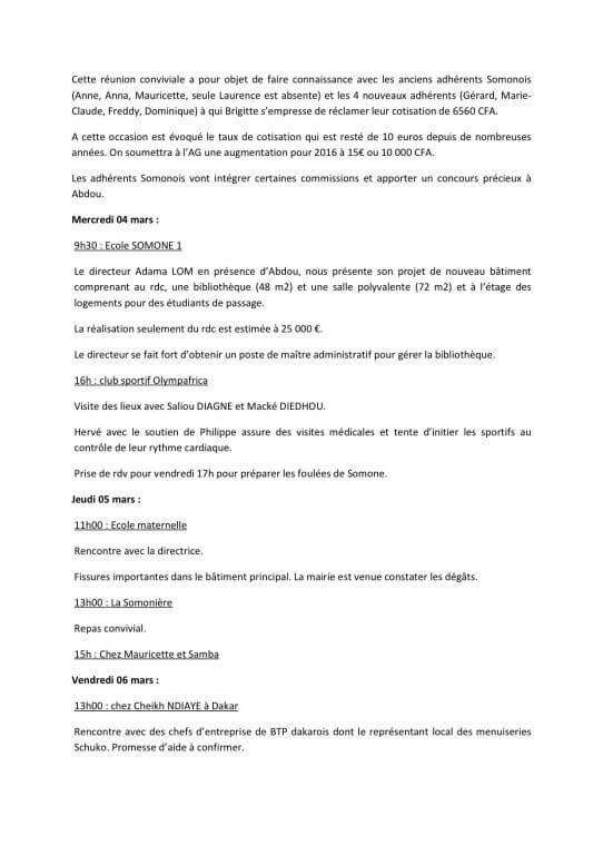 4RAPPORT DE MISSION SOMONE 2015