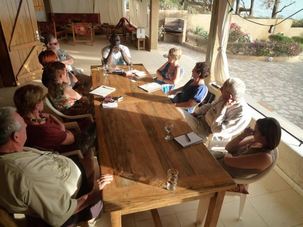 La rencontre passionnante avec Cheikh a duré deux heures et permis de mieux cerner les besoins.