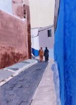 39 . Philippe Joubert Acrylique Ruelle au Maroc