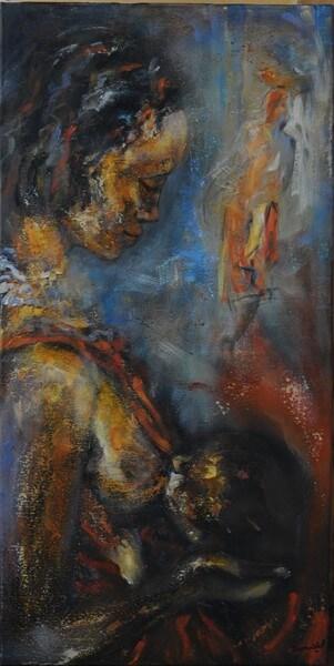 Maternité africaine - 40 cm x 80 cm [1600x1200a fil]