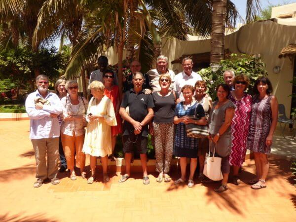Une Partie du groupe formation avec les adhérents Somonois de L'association TERANGA