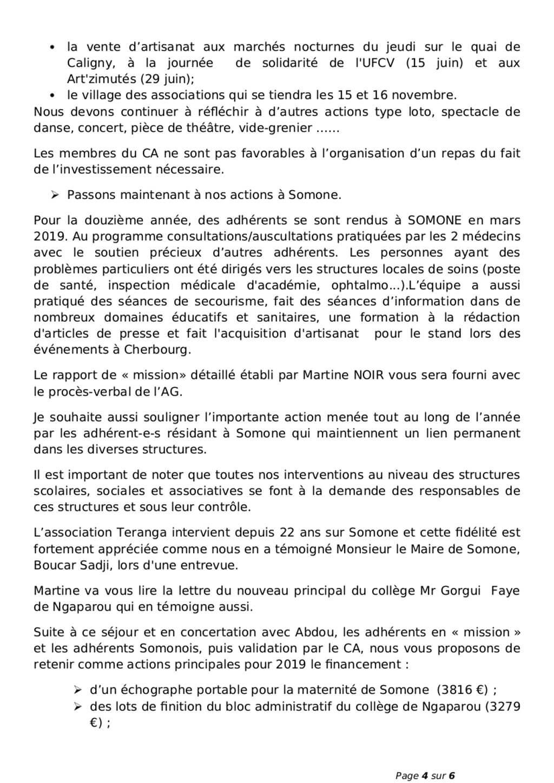 Procès Verbal Assemblée Générale Teranga26 Avril 2019 La